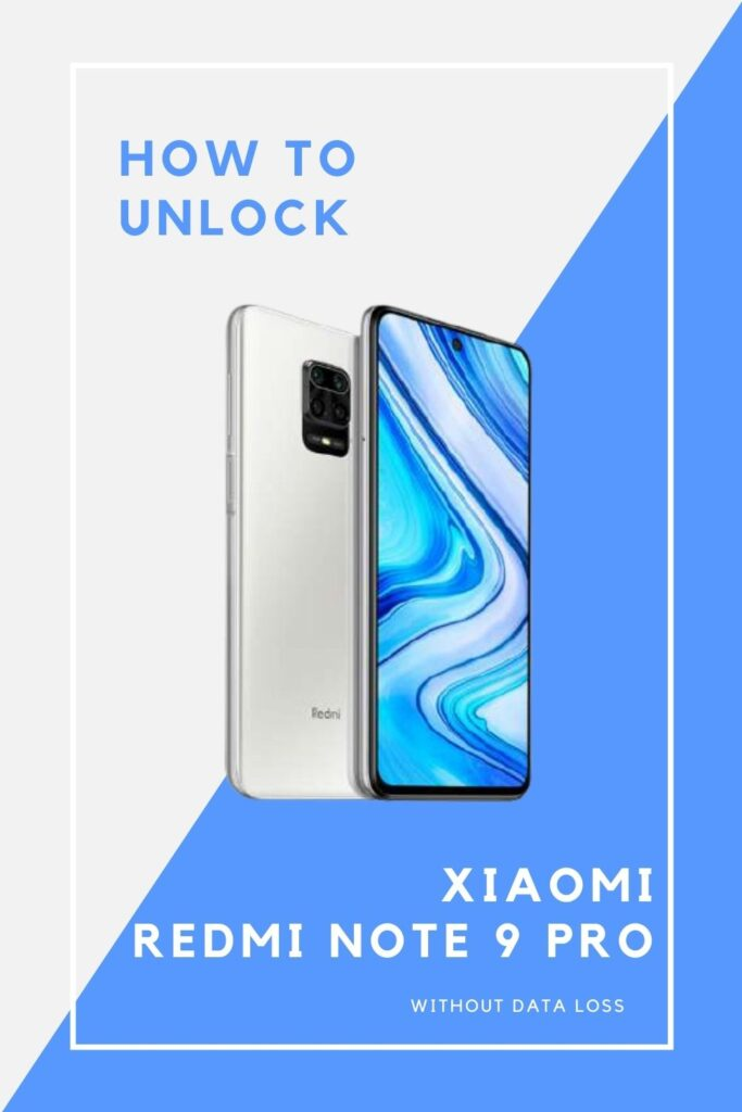 how to unlock redmi note 9 pro